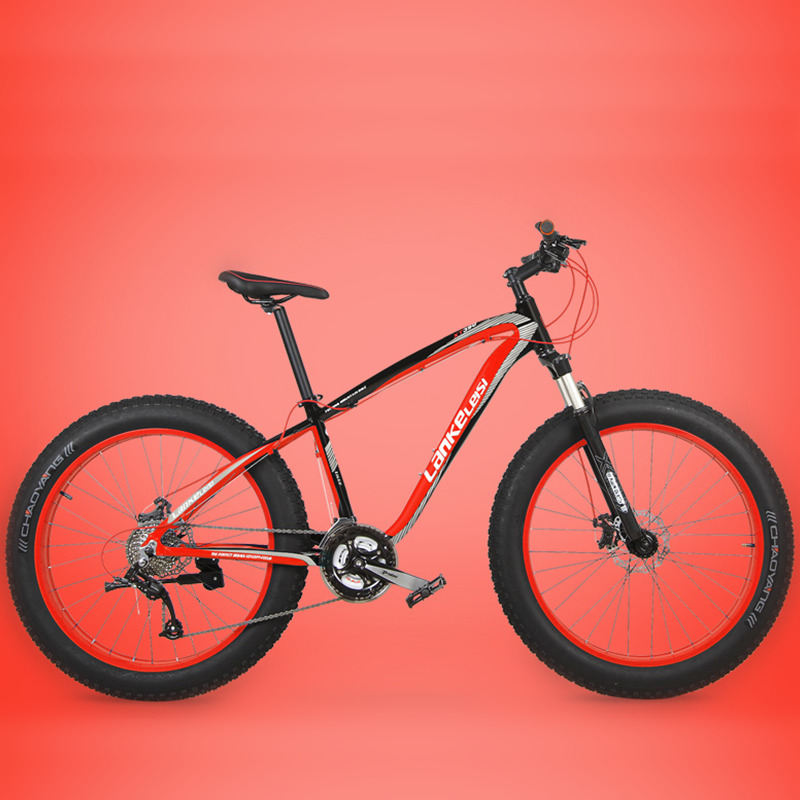 XT390P 26 Inches Fat Bike 27 Speed 4 0 Fat Tire Cable Oil Disc Brake Suspension