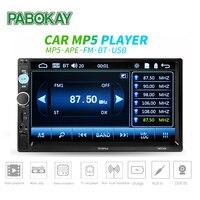 7 inch Universal Car Multimedia Player 2 Din Car Radio HD Bluetooth MP5 Media Player TF FM Support Rear View Camera
