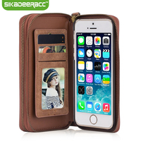 Luxury Leather Wallet Flip Phone Cases For IPhone 5s 6s 7 Plus SE Shockproof Card Slot