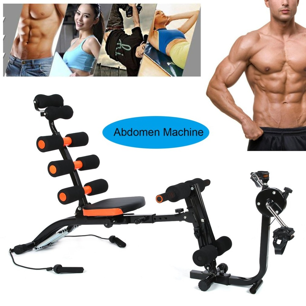 Adjustable Abdomen Machine Sit-ups Fitness Equipment Multifunctional Body Trainer Durable Supine Board Twist Crunch Up Bench
