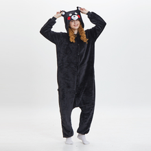 New Autumn Winter Flannel Pajamas Cartoon Animal Bear Onesie pyjama Female Male Couple Sleepwear cartoon Siamesepijama stitch
