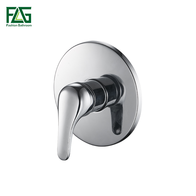 FLG Bath & Shower Faucets Control Brass Mixing Valve Switch Concealed Shower Valve Mixer Hotel Faucet Mixing Wall Shower Switch steam sauna shower room stainless steel shower screen wear plate concealed installation stalls mixing valve
