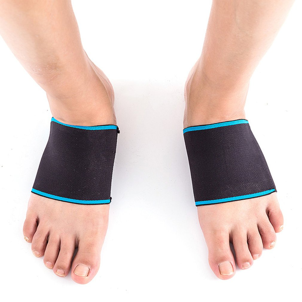 Купить с кэшбэком Sports Elastic Bandage Arch Compression Sleeve Flat Foot Correction For Men And Women Foot Arch Correction Support Sleeve