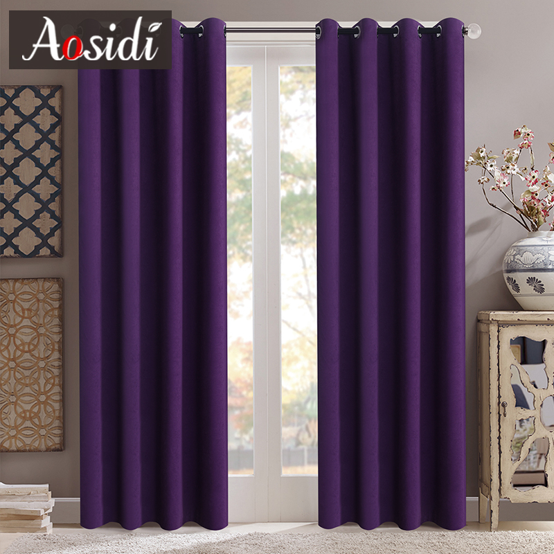 cortinas de veludo modernas para a janela da sala de visitas cortinas de escurecimento da cor contínua para o quarto cortinas de pano personalizadas cortinas terminadas de opacidade de 90%