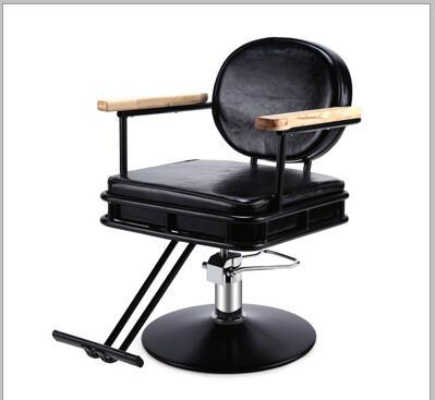 Hydraulische Stuhl Verstellbarer Stuhl Edelstahl Handlauf .. Friseursalon Personalisierte Haar Stuhl