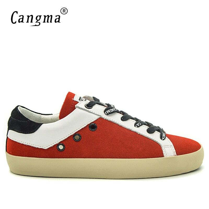 Red Sapatilhas Retro Mens Da Shoes Homens Marca Vermelho De Tamanho Flats Shoes Couro Calçados Genuíno Sapatos Cangma red Para Plus Vaca Camurça UpnqfqW