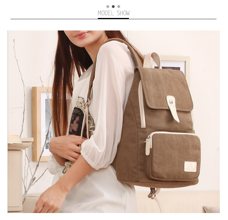 Canvasartisan top quality women canvas backpack new fashion style leisure female travel rucksuck backpacks various color 11