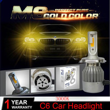 PANYUE Led H4 Car Headlights 72w 7600lm Car Led Light Bulbs H1 H9 H11 HB3 9005