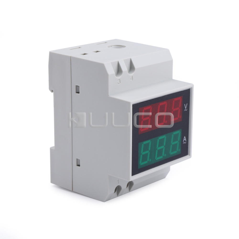 5 PCS/LOT Digital Tester 2in1 Voltmeter Ammeter AC 110V/220V 80V~300V/100A Multimeter Red /Green Led Voltage Current Meter 1 pcs black ac digital ammeter voltmeter lcd panel amp volt meter 100a 300v 110v 220v brand new hot sale