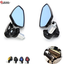 """7/8″"""" 22mm handle bar Universal Pair Motorcycle Rearview Mirror Handle bar End Side Mirrors For honda CBR250R ABS CB500F/X NC29"""