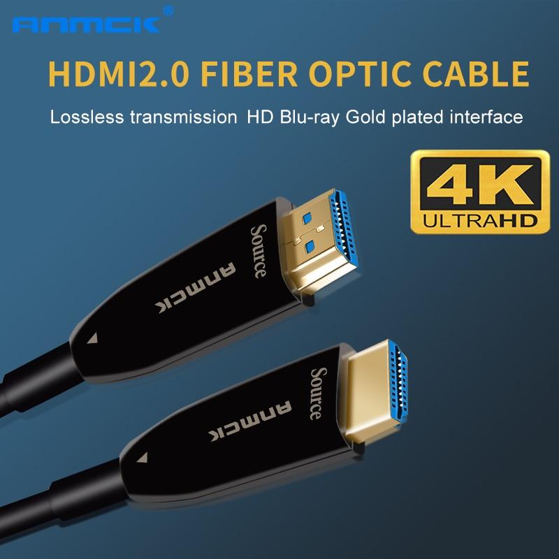 Anmck 4K HDMI Cable 2 0 Optical Fiber Cables 2M 5M 10M 20M 50M 100M 3D