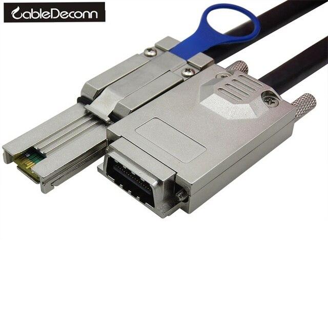 CableDeconn Infiniband SFF 8470 SAS34 To MINI SAS26P SFF 8088 Data Transfer Cable, 1M