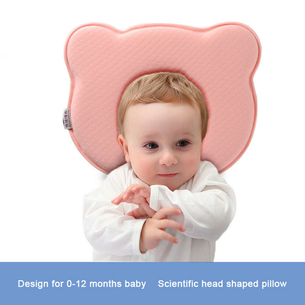 Infant Baby Pillow Preventing Flat Head Memory Foam Cushion Sleeping Supporting