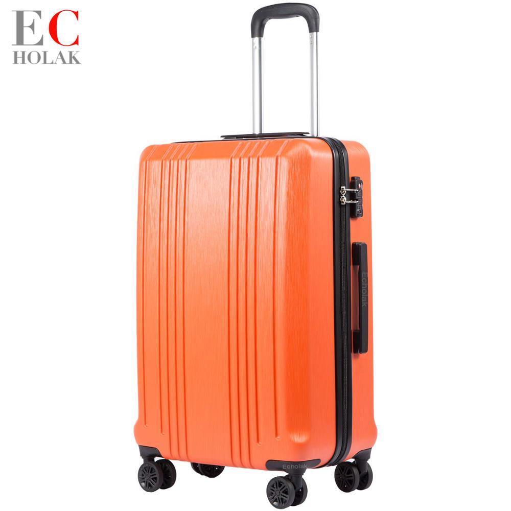 Bagaż rozbudowy walizka PC + ABS z zamkiem TSA walizka podróżna torby wózek torba na bagaż 20in 24in 28in w Bagaż podróżny od Bagaże i torby na  Grupa 1
