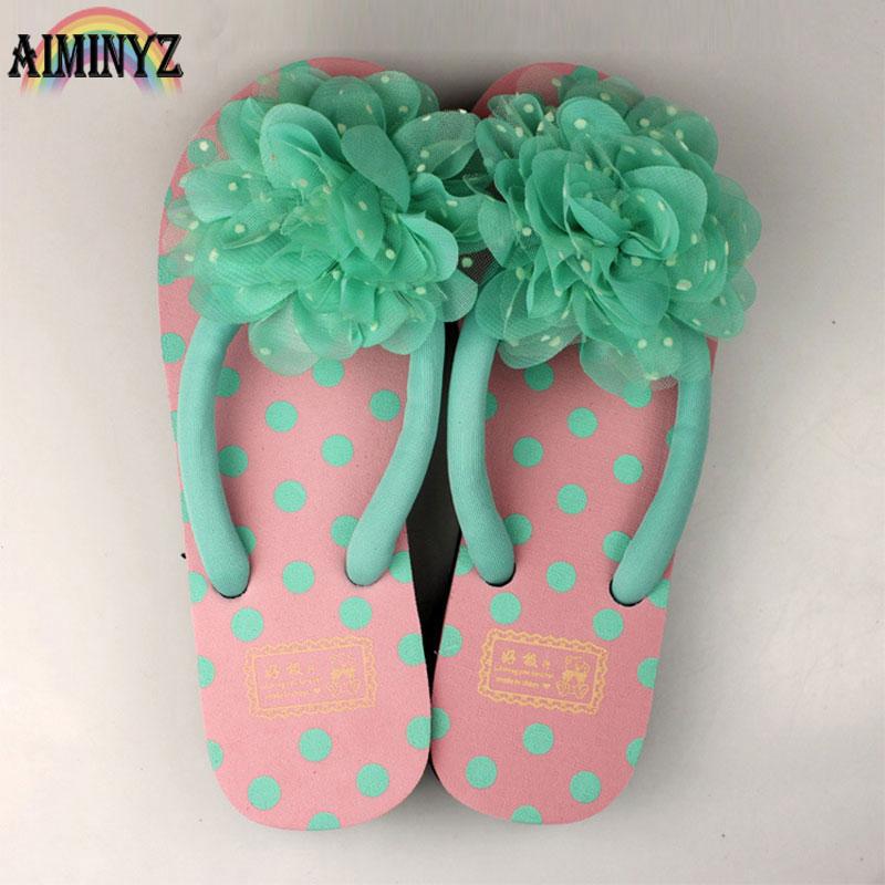 Outside Shoes Summer Slippers Flower Flip Flops Women Chausson Femme Babouche Female House Cool Slipper Beach floral Bathroom beach house