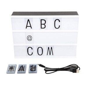 Image 2 - DIY 2018, caja de luz de combinación LED tamaño A4 A6, lámpara de mesa de noche, cartas negras hazlo tú mismo, caja de luz alimentada por USB