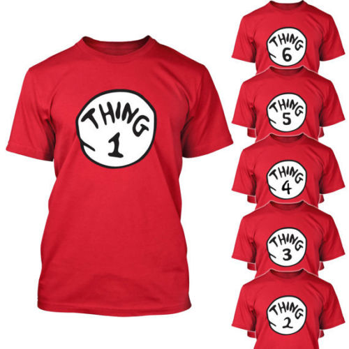 Dr Seuss Thing One 1 2 3 4 5 T Shirt Adult Youth Infant Thing