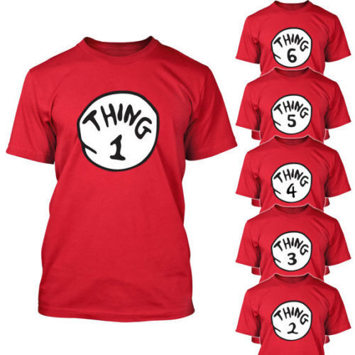 Dr Seuss Kids Shirts: DR SEUSS THING ONE 1 2 3 4 5 T SHIRT ADULT / YOUTH