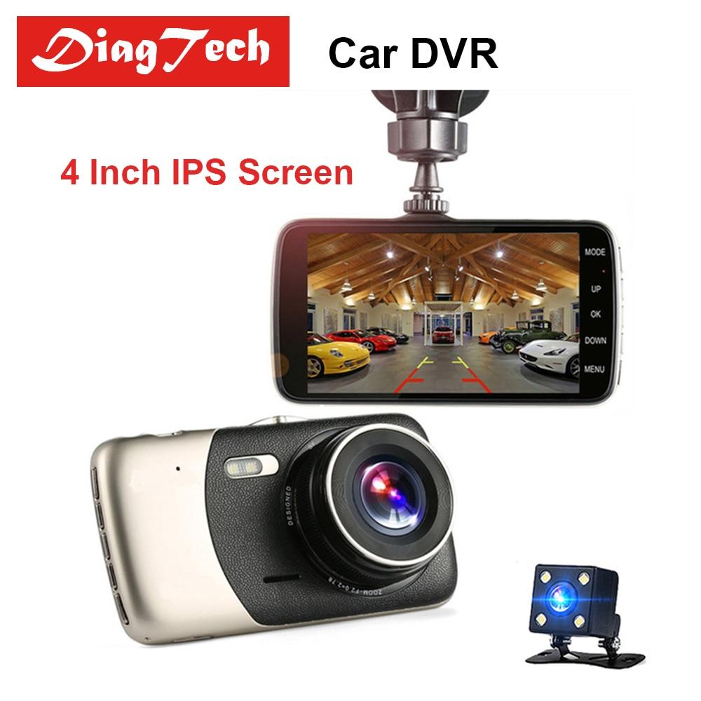 все цены на Gryan Car DVR 4 Inch IPS Screen Dash Cam Auto DVR Camera Dual Lens FHD 1080P Video Recorder Night Vision G-sensor Registrator онлайн