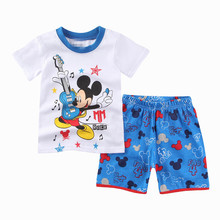 2019 Boys Pajama Kids Pijamas Pyjama Baby Summer Pajamas Set Pijama Infantil Boy Cartoon Menino New