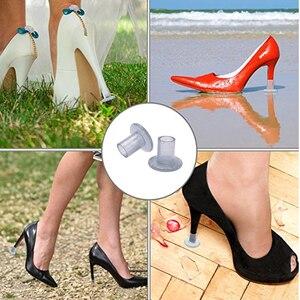 Image 5 - 50 pares/lote calcanhar stoppersilvery alta heeler antiderrapante silicone calcanhar protetores stiletto dança cobre para festa de casamento nupcial
