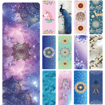 183cmx68cmx1.5mm Suede Yoga Mat Non-slip Gym Mat For Gym Fitness Sports Yoga Pilates Exercise Yoga Mats Natural Rubber Ultr