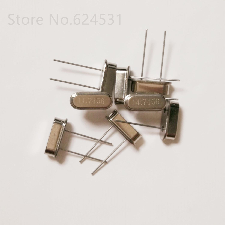 10pcs Crystal Inline Passive Crystal Oscillator HC-49S DIP-2 2 Pin 14.7456MHZ 14.7456M Resonator