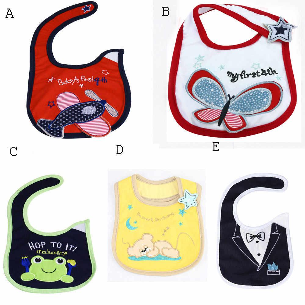 Baby Slabbetjes Leuke Cartoon Patroon Baby Pasgeboren Zuigelingen Kids Bandana Peuter Katoen Waterdichte Slabbetjes Speeksel Handdoek Voeden