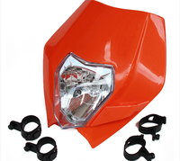 Street Fighter Bike Motorcycle Universal Headlight Headlamp For Suzuki DRZ400E Yamaha Cafe Racer Bobber Scooter Orange