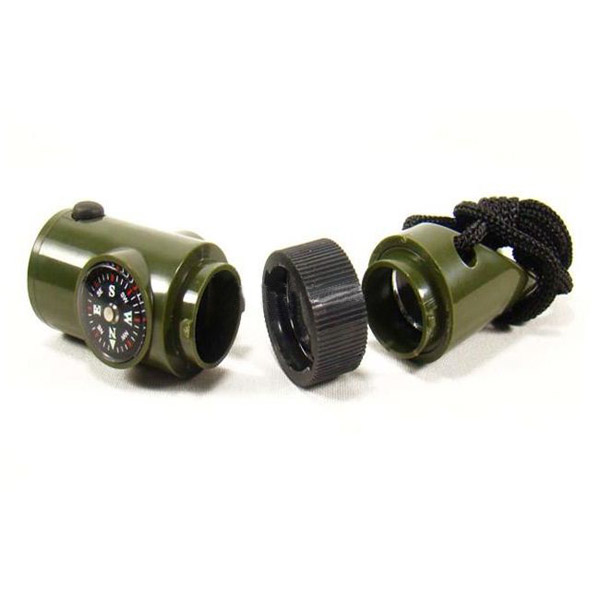 Survival Kit Military Outdoor 7in1 Multifunction Emergency Gear Whistle Magniffer Compass LED Flashlight Camping Supervivencia