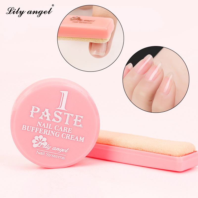 1box Nail Polishing Wax set Nail art Manicure Luster Buffing paste & serbuk kuku penjagaan Krim buffer Kulit domba kit Tools Z25