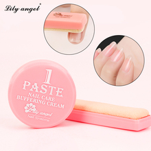 1box Nail Polishing Wax set Nail art Manicure Luster paste&powder nail care Buffer cream Sheepskin file kit Tools Z цены