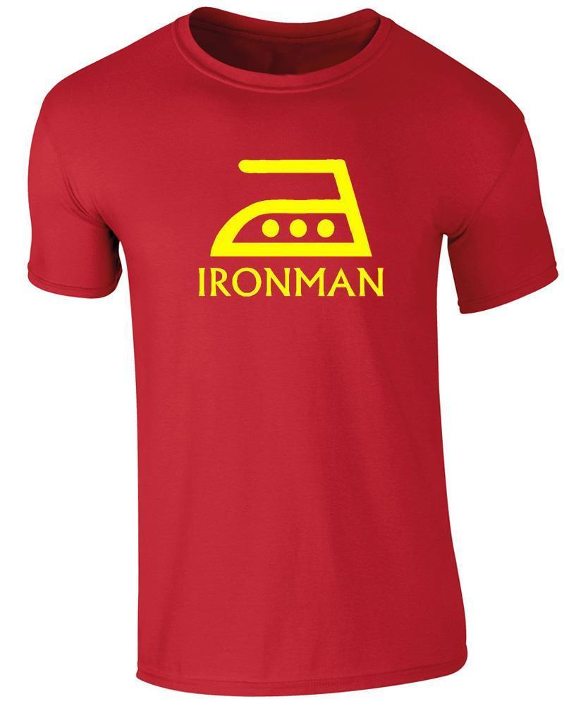 Mens T-shirt - IRONMAN funny parody / Iron man Novelty Tee New T Shirts Funny Tops Unisex