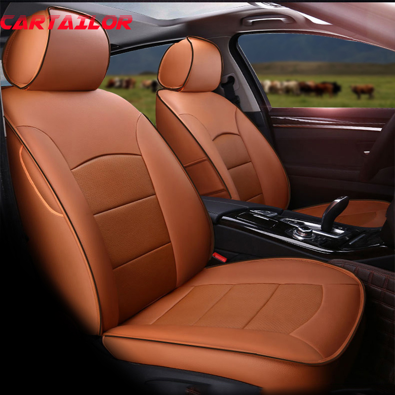 CARTAILOR Custom Car Seats Protector for Nissan X-Trail 2017 T32 Car Seat Covers Leather Accessories Set Side Airbag Compatiable