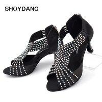 SHOYDANC Full Rhinestone Dance Shoes Women Sneakers Dance Shoes Roman Boots Style Latin Salsa Shoes Dancing Ballroom woman
