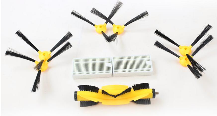(ForB6009) pièces De Rechange pour Robot Aspirateur, brosse latérale * 6 pcs + tas filtres * 2 pcs + v en forme de brosse centrale * 1 pc