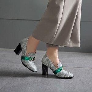 Image 5 - Sarairisトレンディビッグサイズの48分厚いかかとセクシーな女性のパンプスエレガントなオフィスの女性のハイヒールの女性の靴