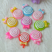 hand made wholesale jewelry lots Lollipop Resin hair accessories diy findings girls 10ps/lot