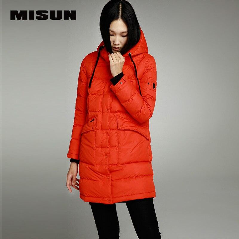dc243fa0606df Misun 2017 ضئيلة متوسطة طويلة الإناث أسفل معطف سماكة المرأة الستر معطف فتاة  سمكا الدافئة الأزياء