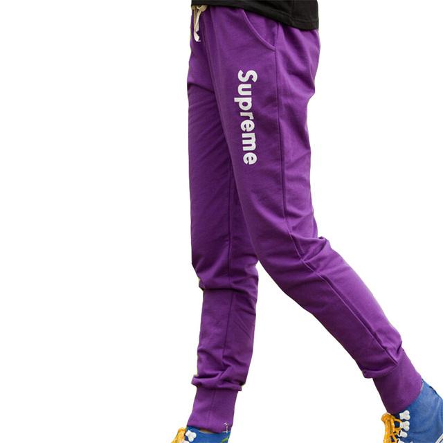 Mulheres harem pants senhoras pant leggins impressão carta elásticas calças casuais moda plus size lápis hip hop calça l002 deportes