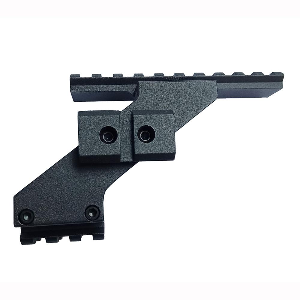 Tactical Weaver Picatinny Top & Bottom Rail Pistol Handgun Scope Mount Fits Glock Pistols Front Red Dot Laser Sight