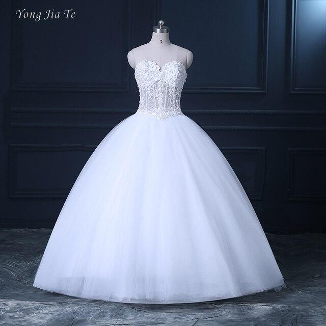 2017 nuevos vestidos de boda para las mujeres sin tirantes piso