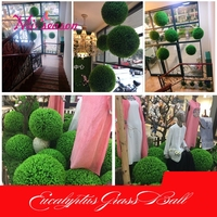 Eucalyptus Ball Artificial Topiary 10 15 20 25cm Green Plastic Plant Ball Shop Mall Supplies Indoor