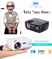 Aun projetor (opcional embutido android 4.4 wifi bluetooth apoio dlan miracast airplay) led projector proyector am01 series