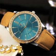 YAZOLE 2017 Luxury Brand Famous Gold Diamond lady Watches leather casual Quartz Watch women female WristWatch Relogio Masculino