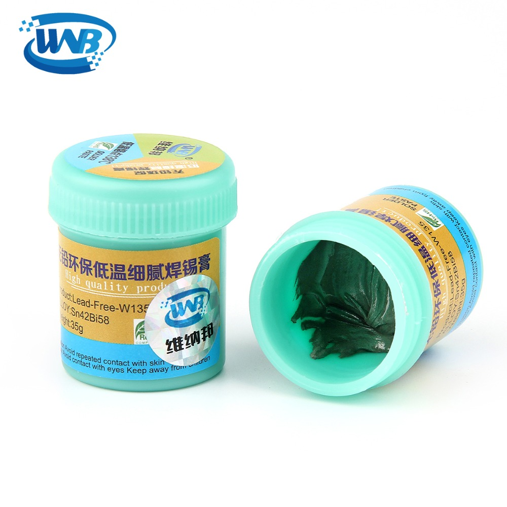 WNB 35g Syringe Liquid Flux Soldering Paste Lead-free Stencil Welding Tool Low Temperature Melting Point 138C Tin Solder Paste