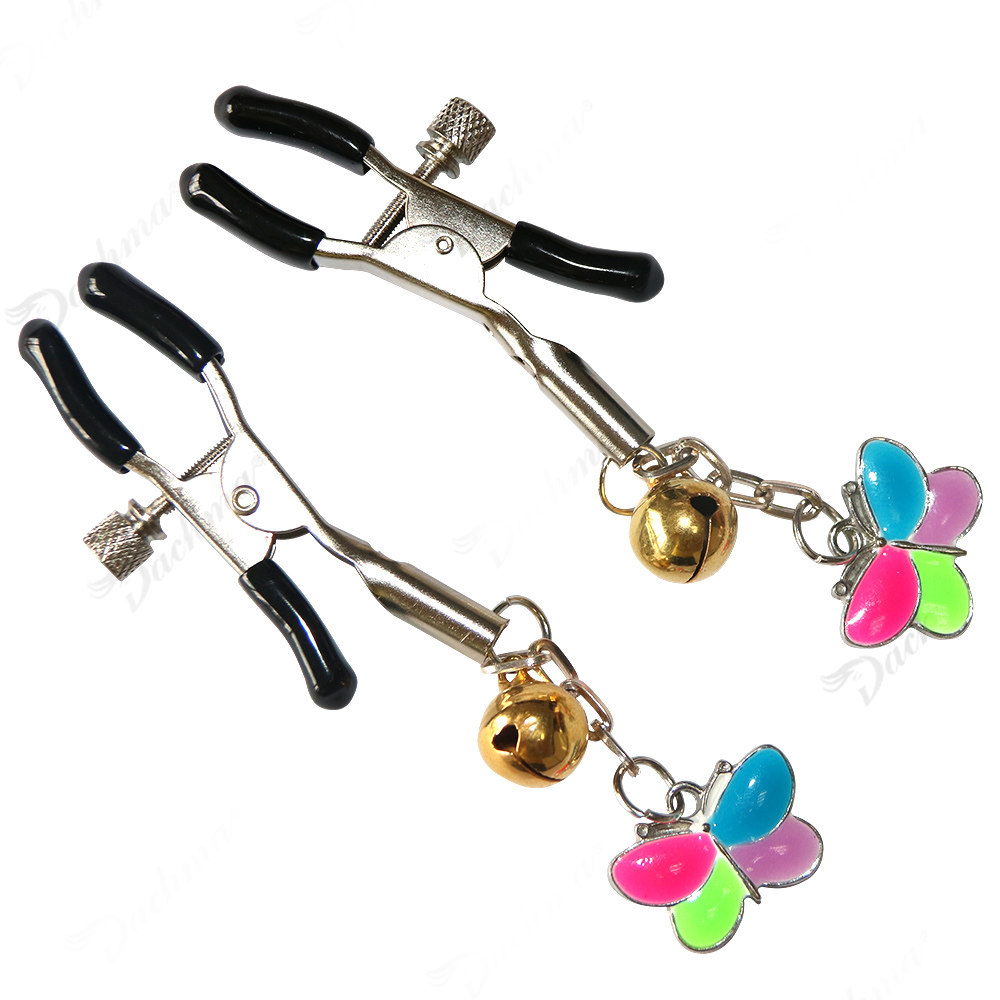 1 Pair Metal Nipples Clamps Clips Breast Clip Bdsm Bondage Sex Toys for Couples Adult Game Fetish Flirting Sex Shop Erotic Toys in Adult Games from Beauty Health