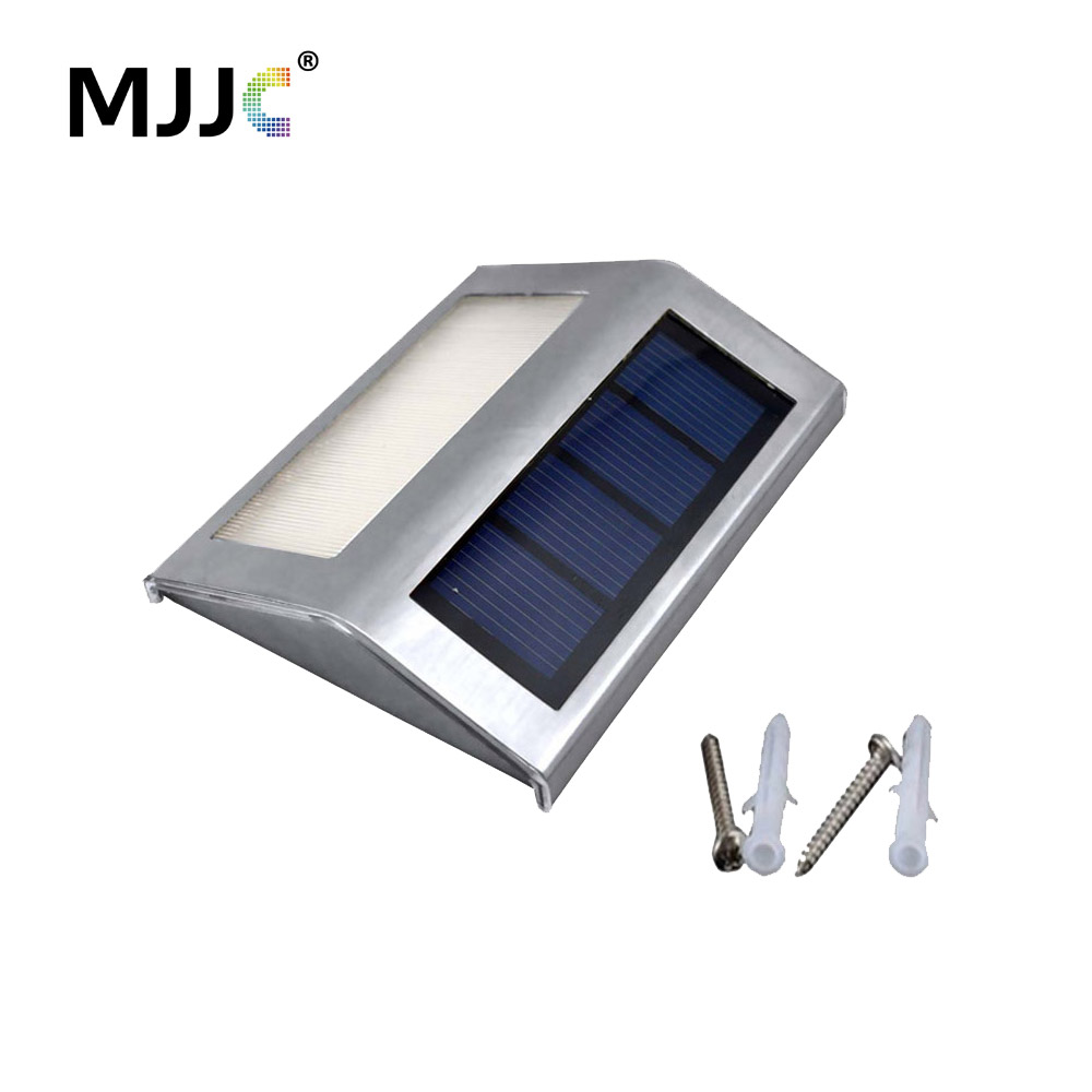 LED Solar Garden Light Vägglampa Utomhus Solar Powered Pathway Lights for Yard Energibesparing Uppladdningsbar Wall Street Lighting