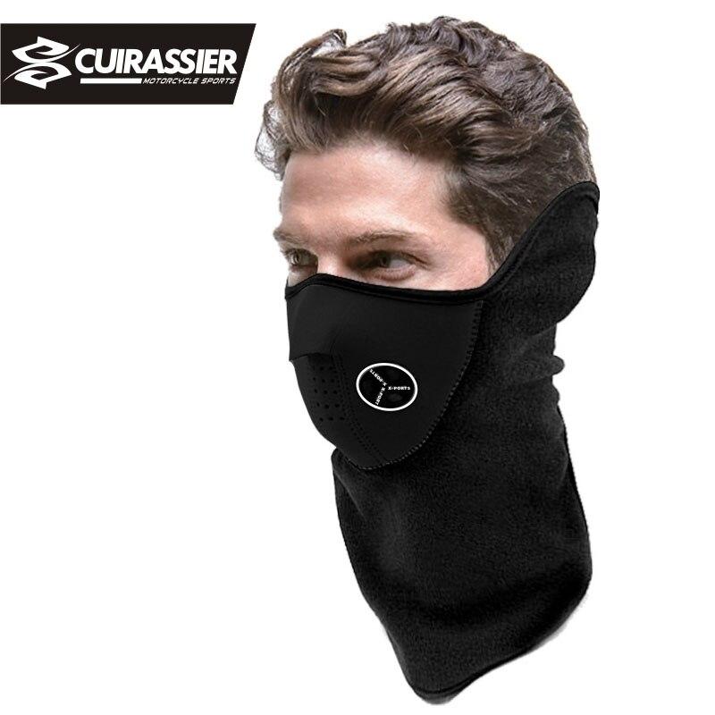 Motorcycle Face Mask Neoprene Neck Warm Helmet Half Winter ...