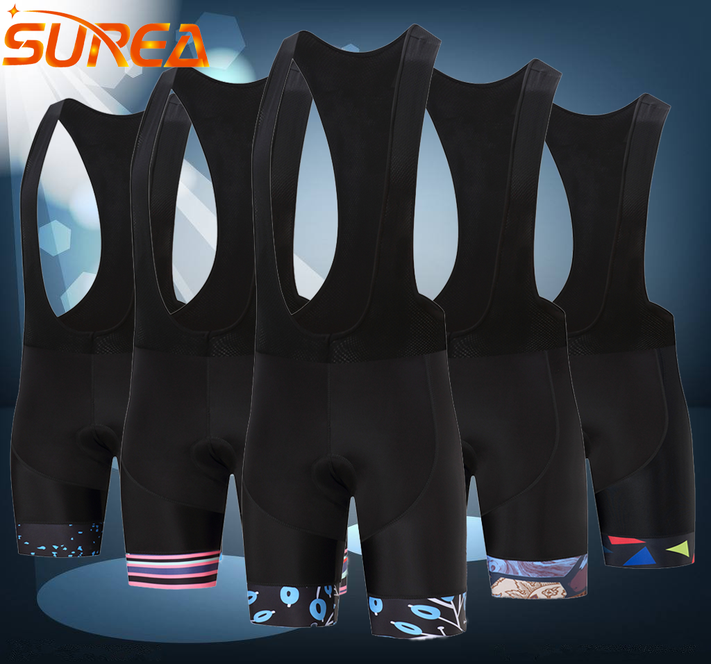 цена на SUREA Hunte Lycra Riding Bicycle Short Pants Summer Cycling Shorts Riding Bike 3D Padded Bicycle Short Cool max Gel Shorts